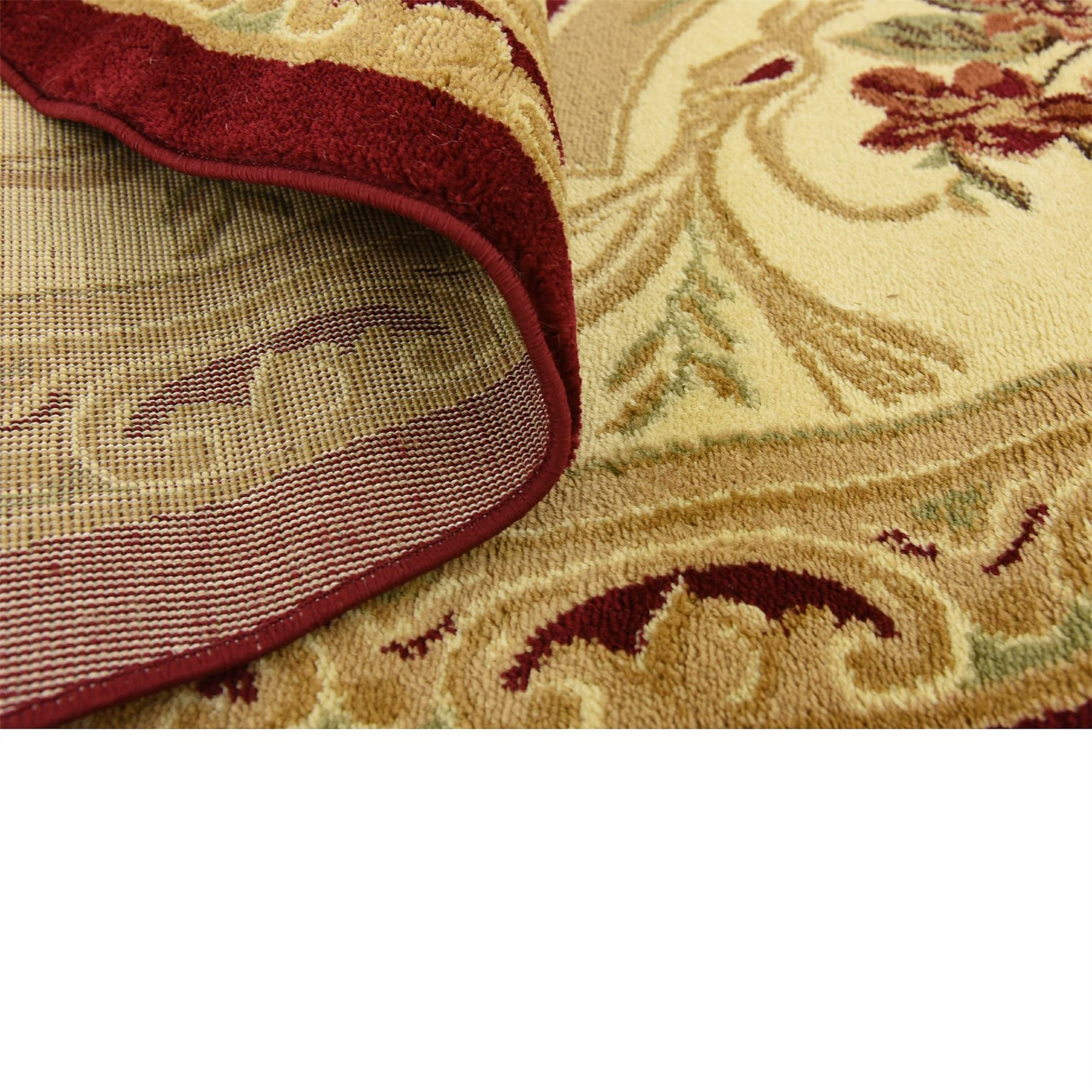 Oriental-Large-Area-Rug-Square-Traditional-Country-Round-Carpet-Medallion-Small thumbnail 50