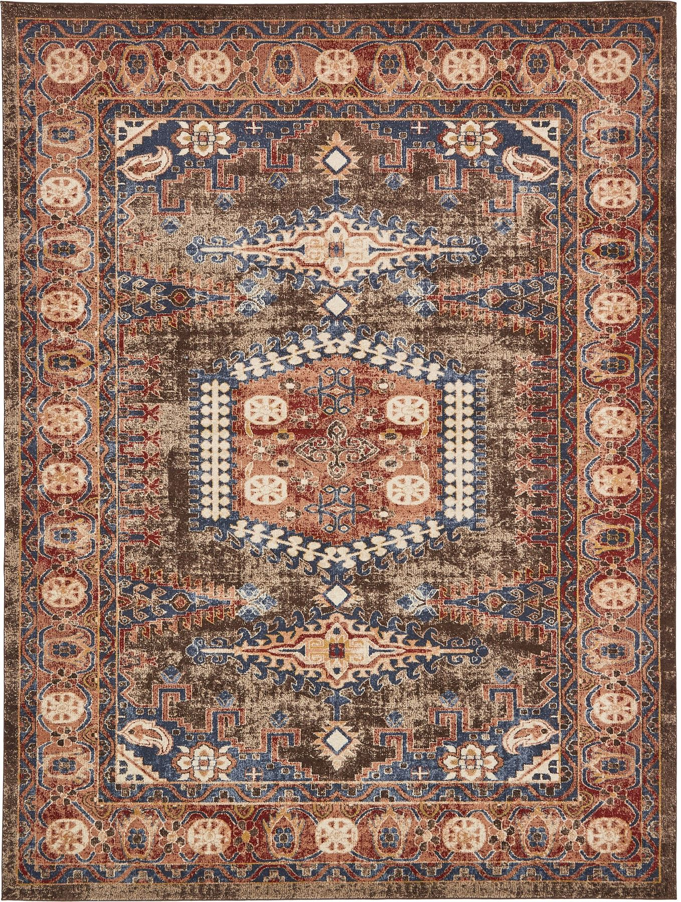 Traditional large faded persian design area rug small for Vintage style area rugs