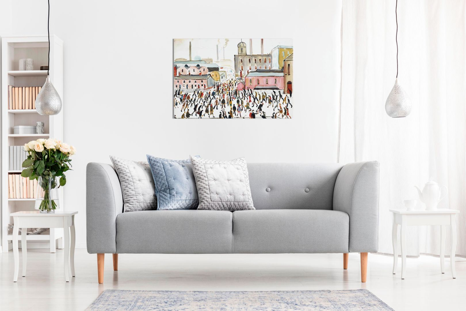 L-S-Lowry-Collection-Painting-Canvas-Print-Wall-Art-Picture-Home-Decor miniatura 5