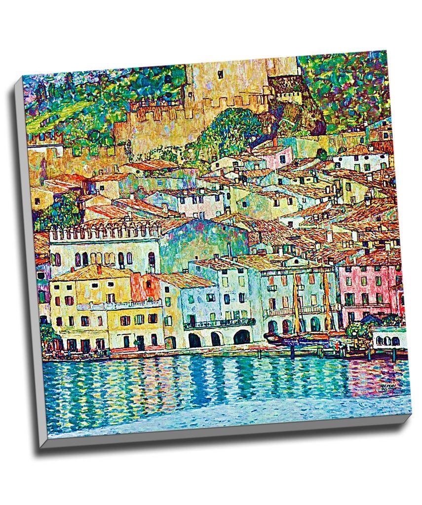"""20/""""x20/"""" Canvas Art Malcena at the Gardasee  by Gustav Klimt"""