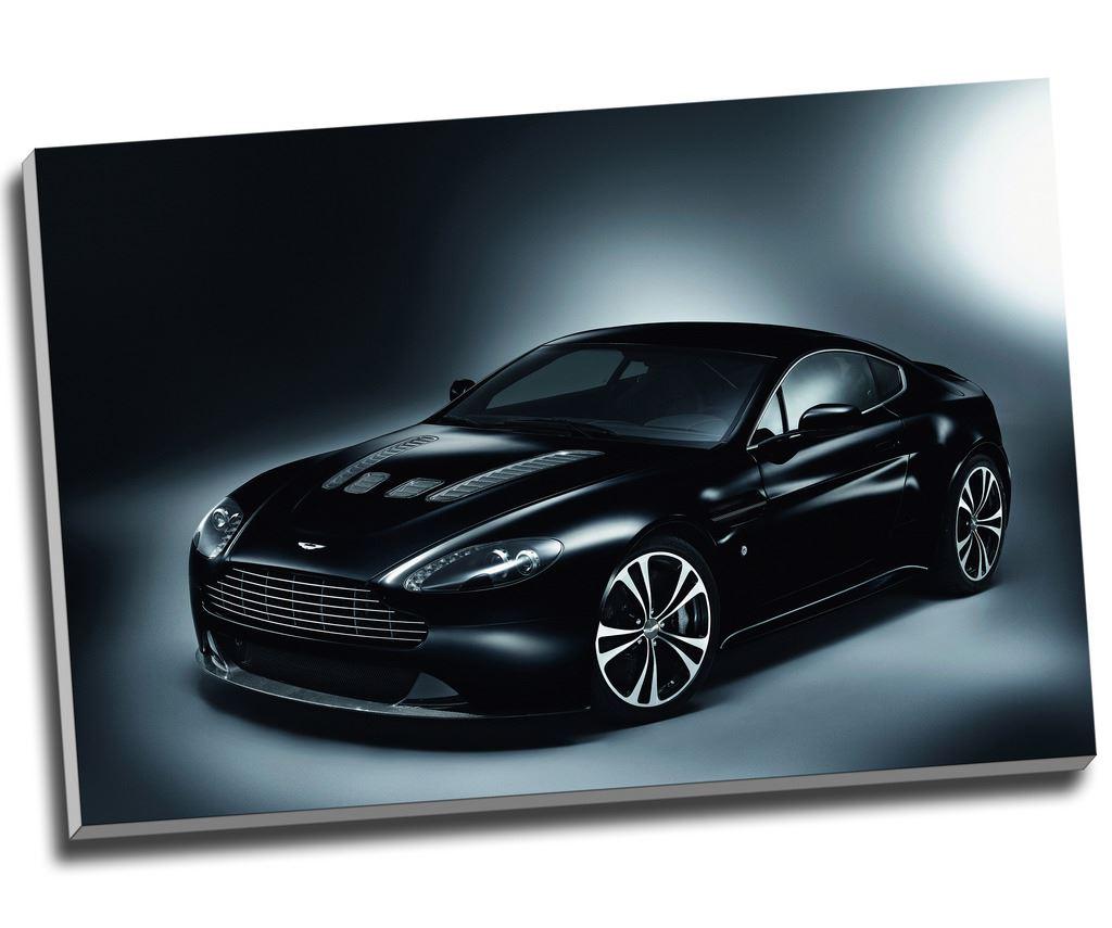 "Aston Martin V12 Vantage Canvas Print Wall Art 36x24"""