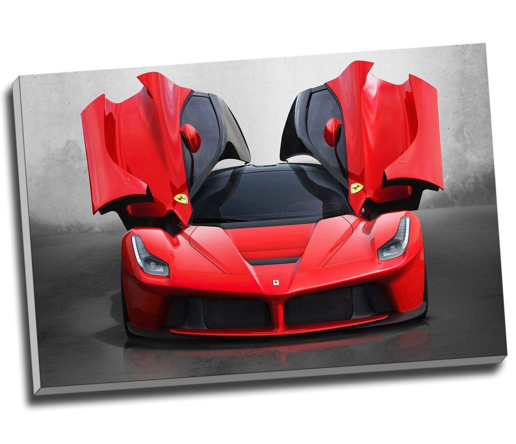 "Ferrari Laferrari Supercar Canvas Print: La Ferrari Supercar Canvas Print Wall Art 30x20"" A1"