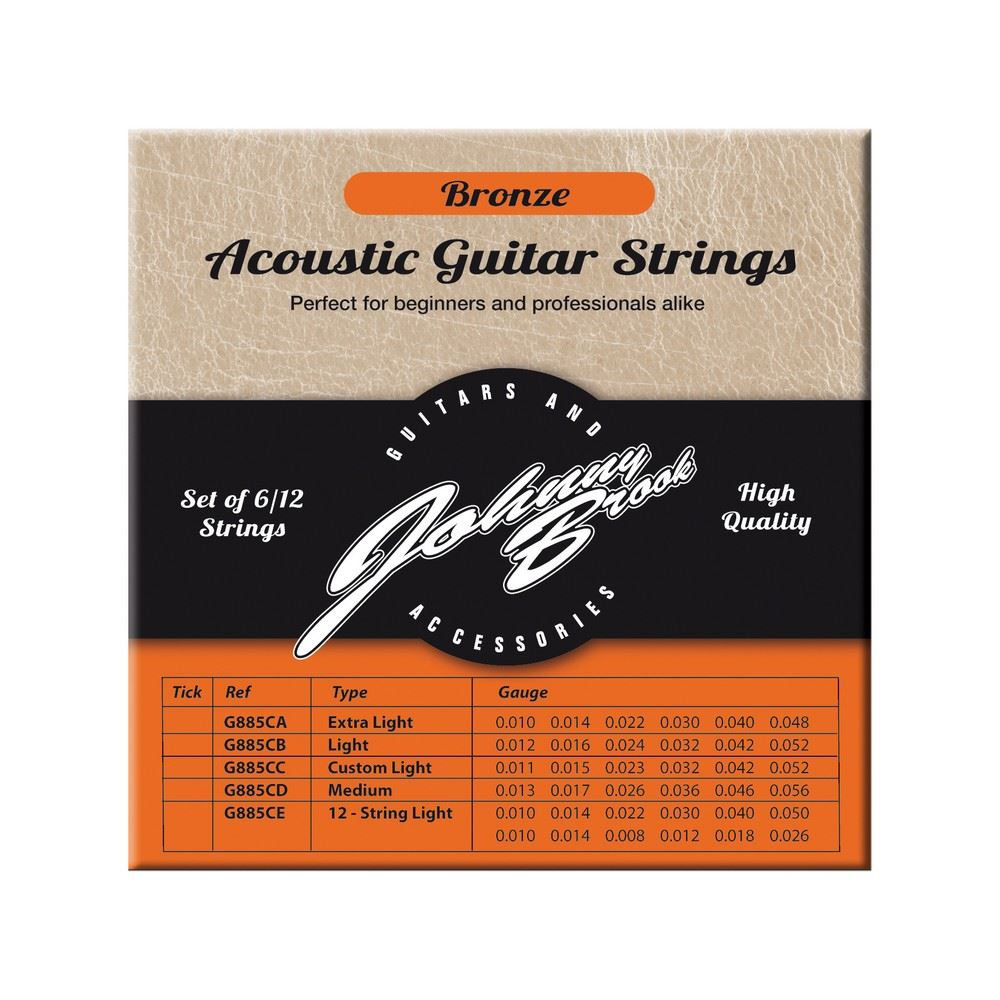bronze acoustic guitar strings for 12 string guitars light gauge set of 12 5021196709992 ebay. Black Bedroom Furniture Sets. Home Design Ideas