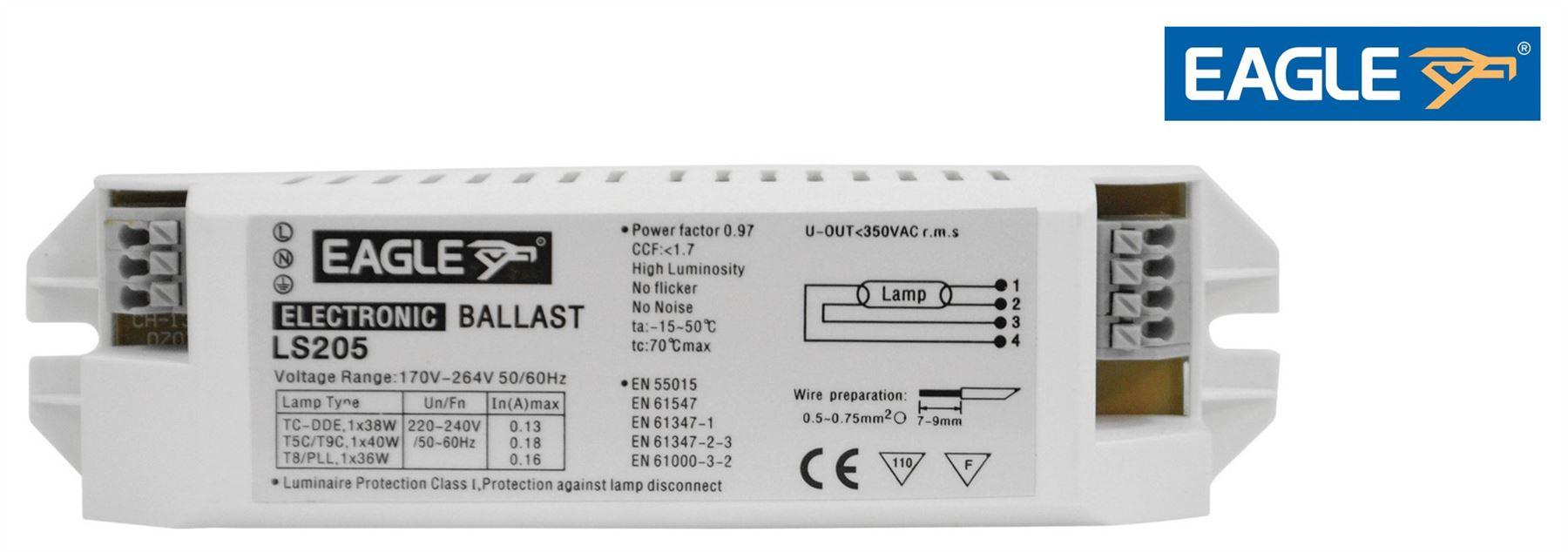Eagle Electronic Ballast 40/38/36W 5021196644798 | eBay