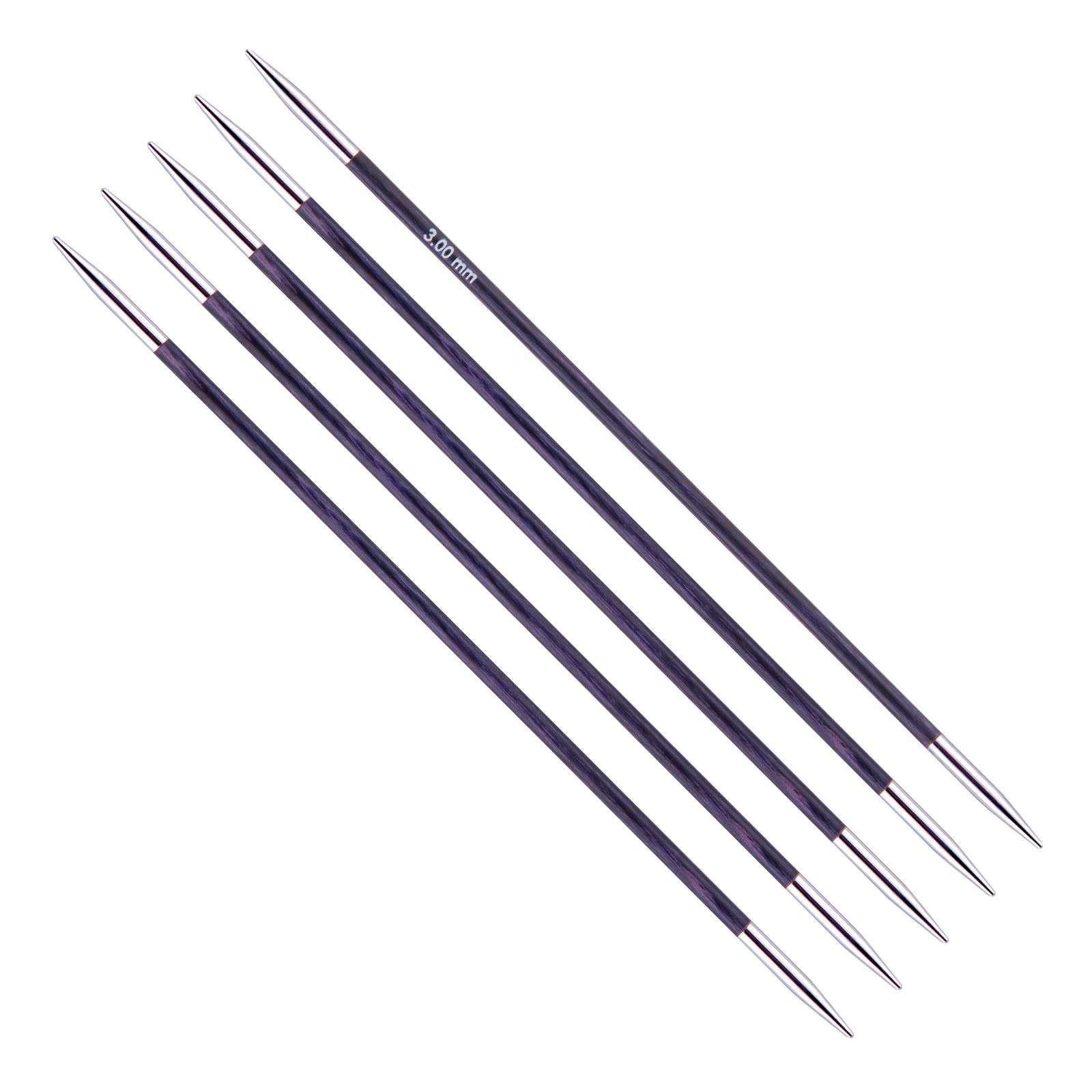 3.25mm BIRCH 20cm length Premium Double Point Knitting Needles