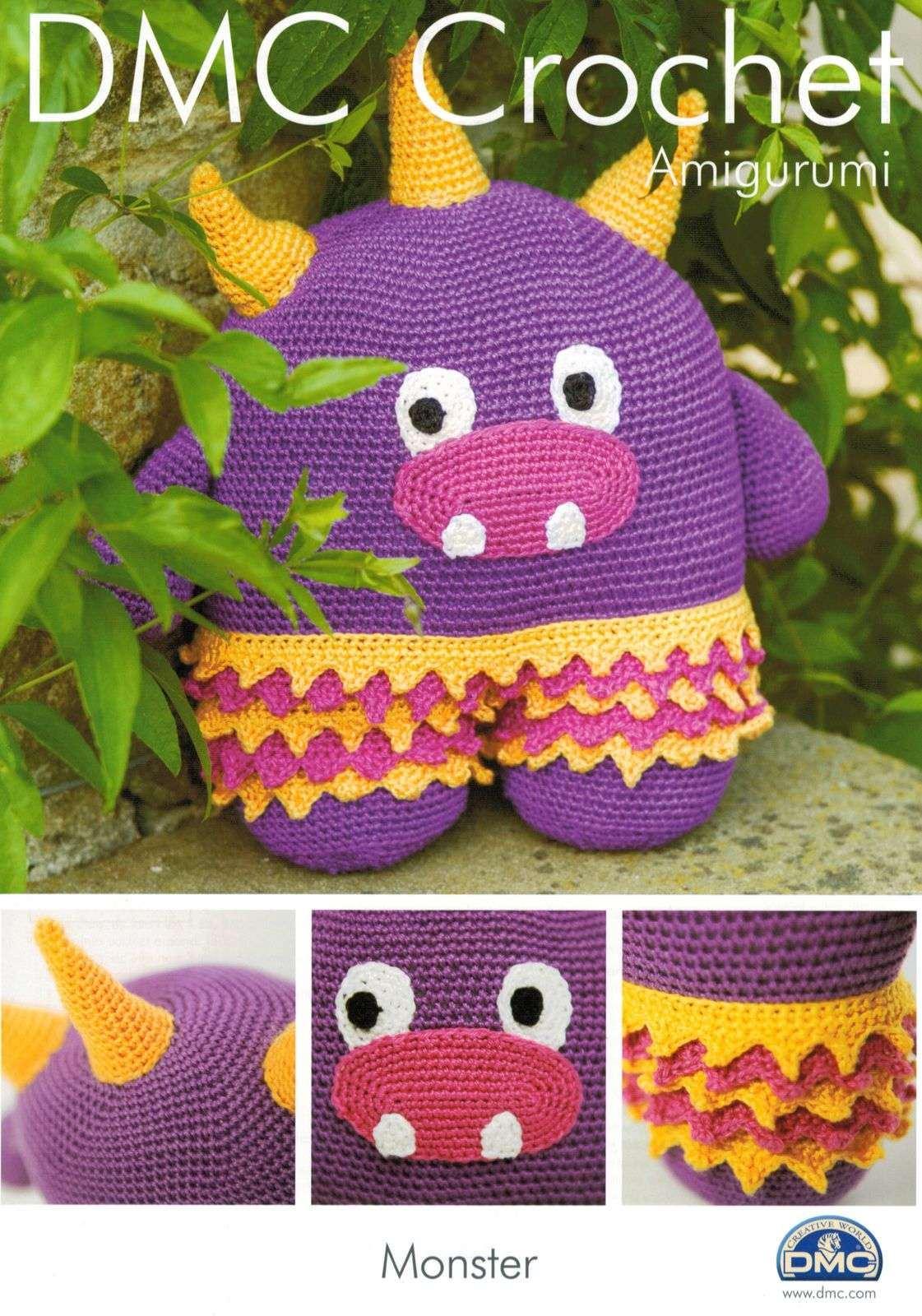 Ravelry: Hug Monster pattern by Linda Salant | Crochet monsters ... | 1600x1121