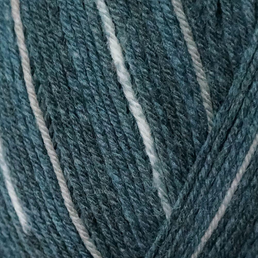"Opal /""Uni/"" Solid Sock Yarn Denim + pattern 5195"
