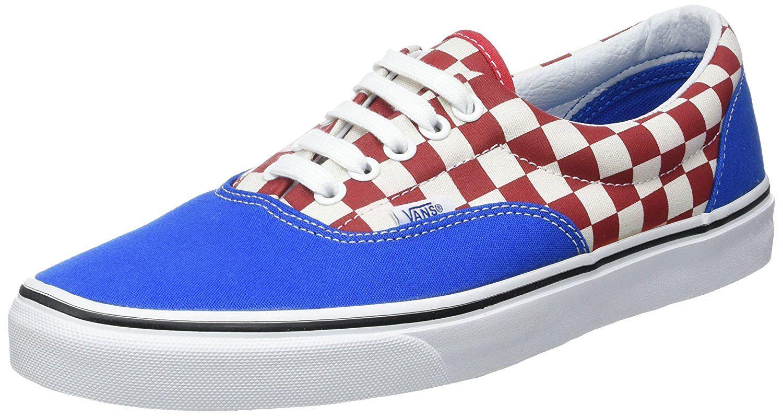 Vans U Era Azul Rojo Check Check Rojo Hombre Canvas Skate Trainers Zapatos c8c476