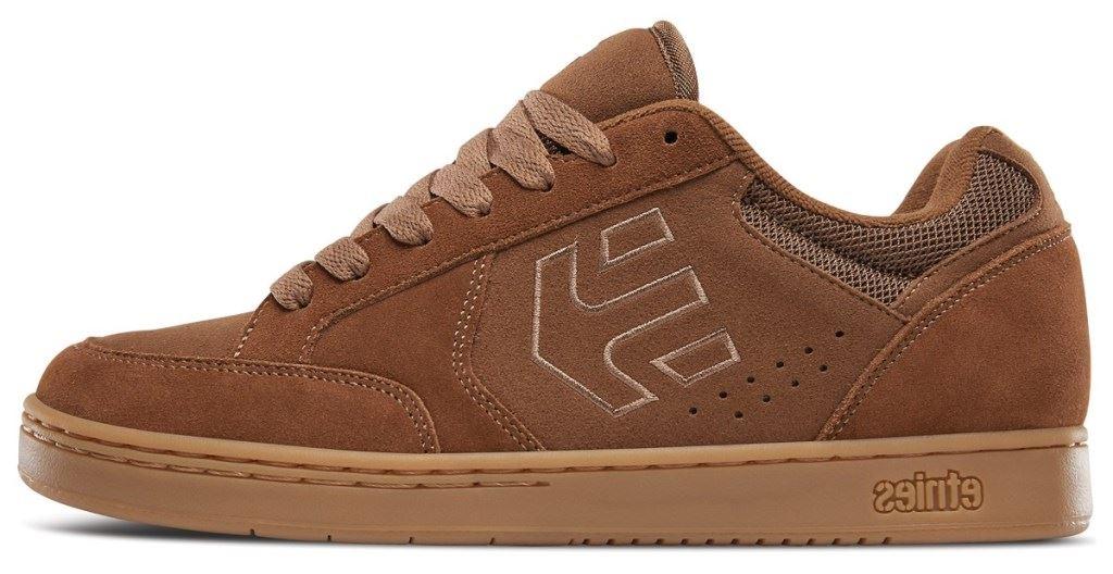 Etnies Swivel Brown Gum Mens Suede Trainers Shoes