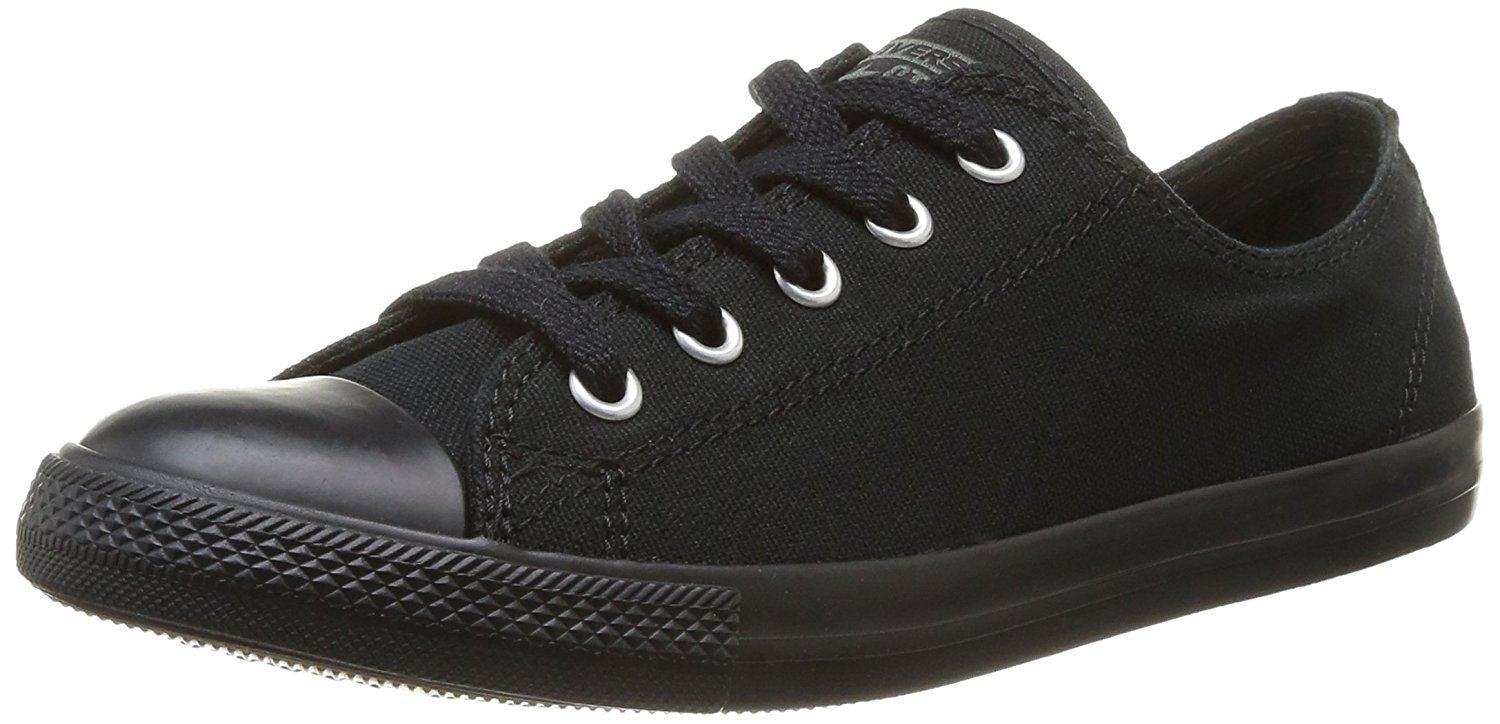 11ca14812bd Converse Chuck Taylor All Star Dainty Ox Black Mono Womens Trainers ...