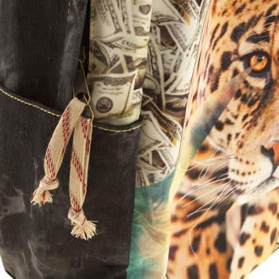 Tigerbear REPUBBLICA DARKSTAR Occhio del leopardo Nuova Borsa a Tracolla Zaino
