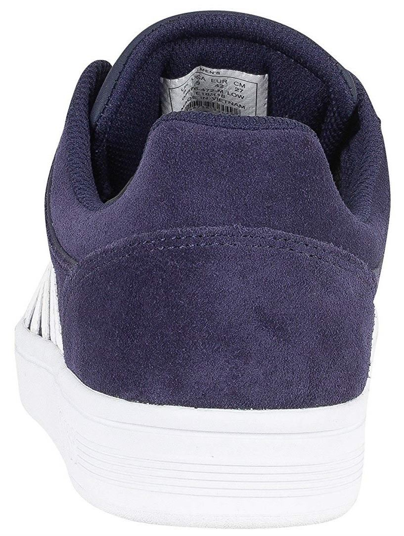 91378bea824 K. K. K. Swiss Court Cheswick Navy White Mens Suede Trainers 500c35 ...