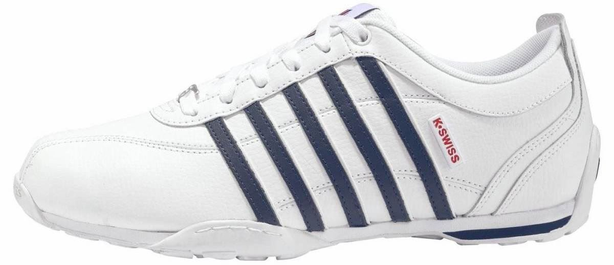 K. Swiss Arvee 1.5 White Navy Red Mens Leather Trainers
