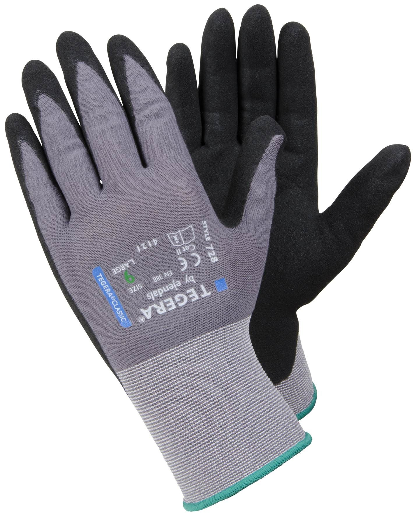 12x par GUANTES Pairs gloves Black PU Safety Work Glove Builders Protect  S//M //L