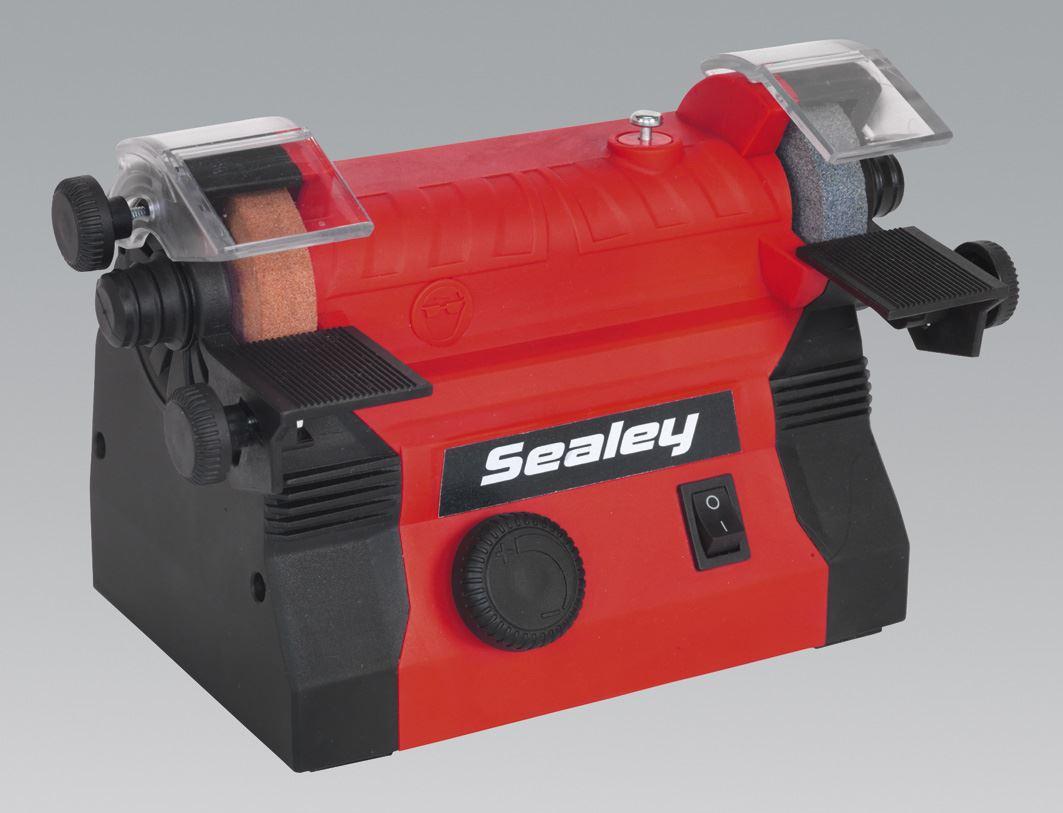 Sealey Bg1010 Mini Bench Grinder 216 50mm Flexible Drive