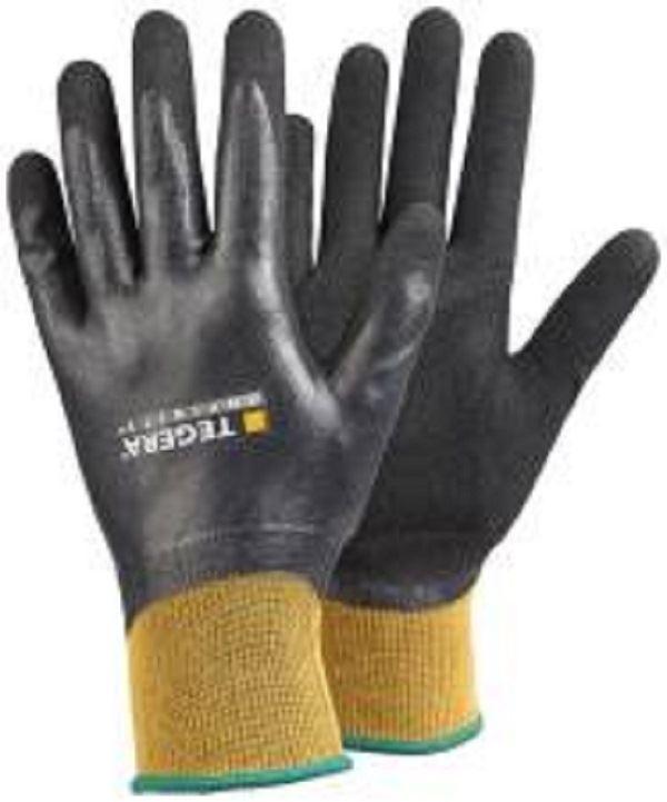 X 5 Pairs TEGERA Fully Coated Waterproof Nitrile Builders Gardening Work Gloves