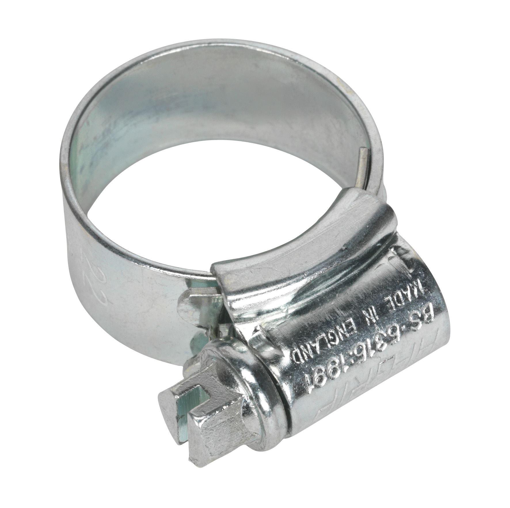 Sealey HCJ0 Hi-Grip® Hose Clip Zinc Plated Ø14-22mm Pack of 30