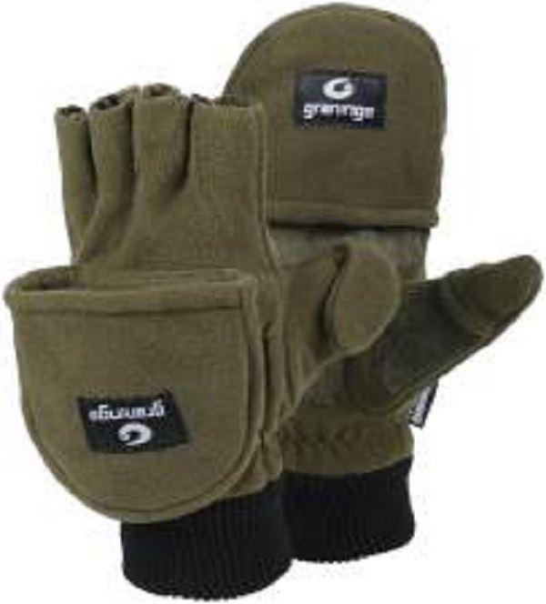 GRANINGE G6030 Winter Hiking Fishing Mitts Gloves Fingerless Leder Palm M XL