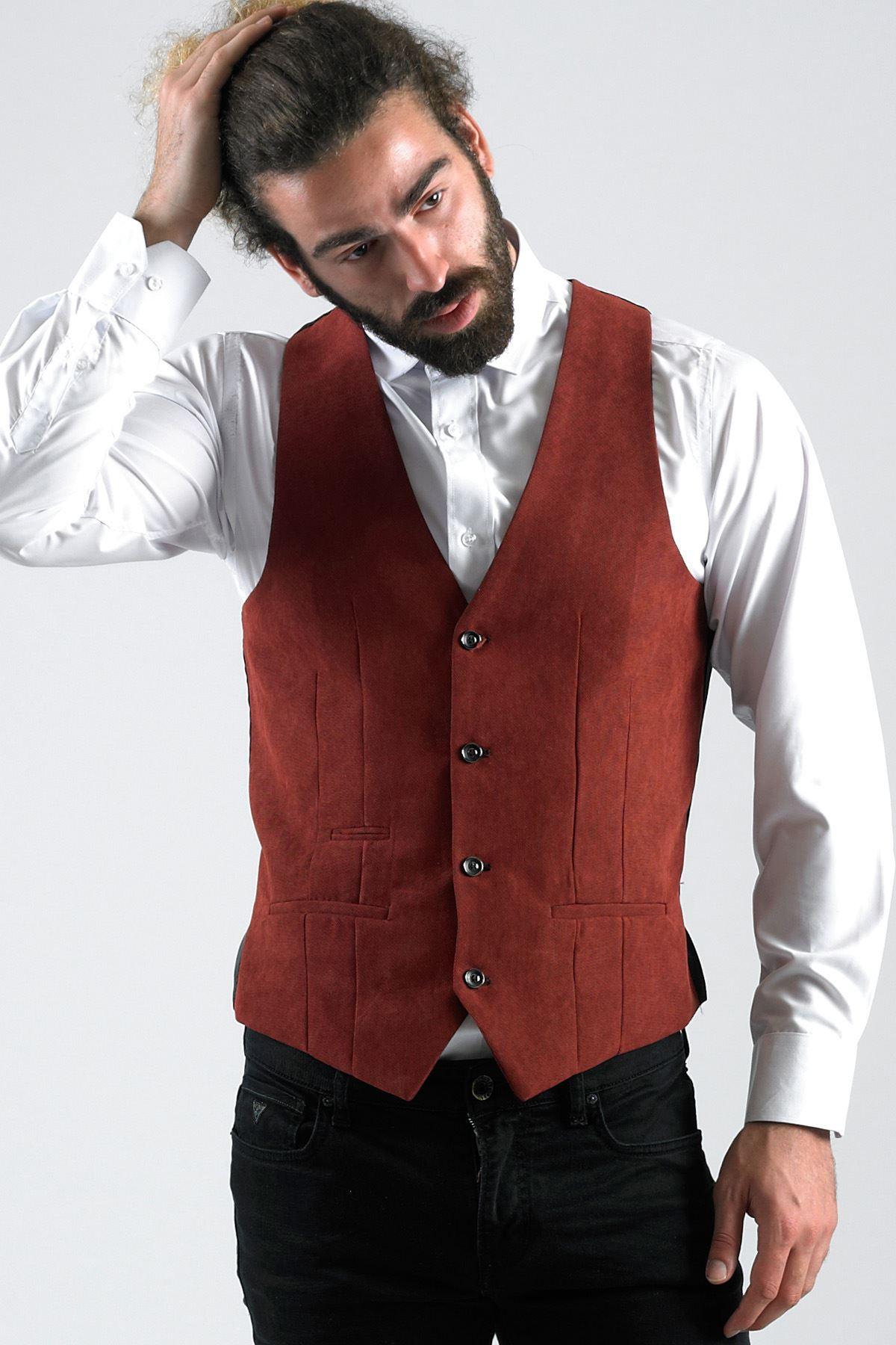 Herren Smart Waistcoat Formal Slim TailoROT Work Office Geschäft Vest