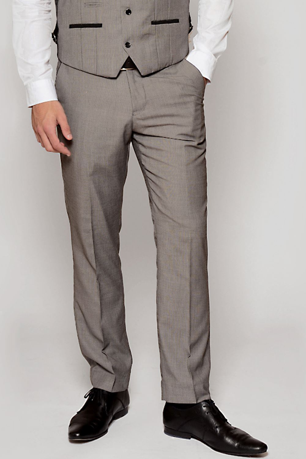 Mens Formal Suit Trousers Marc Darcy Flat Front Office Work Fashion Pants