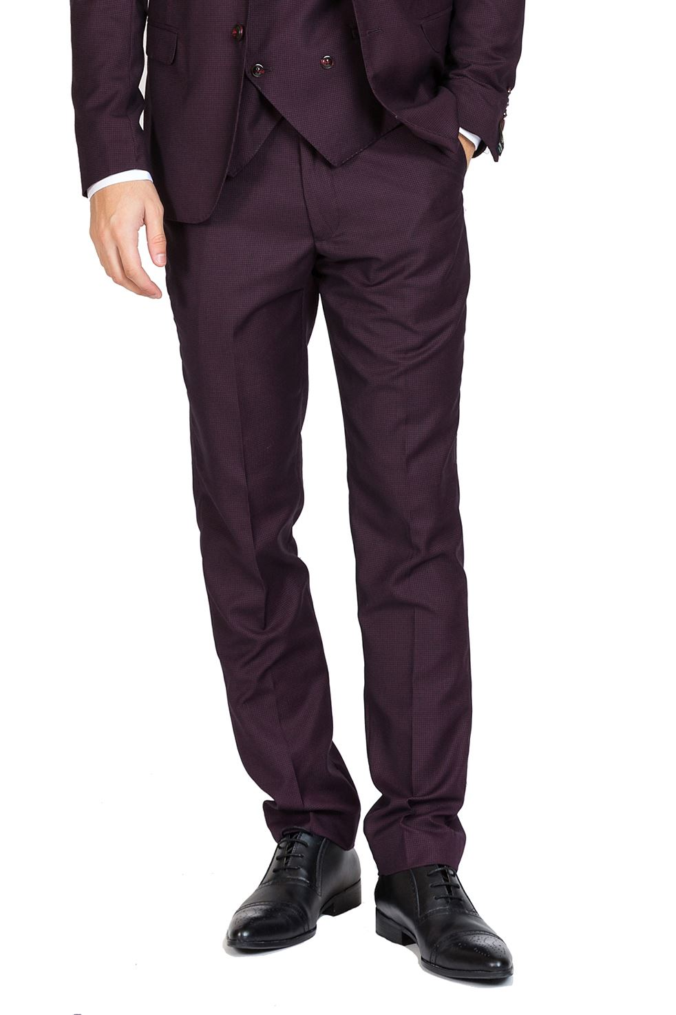 Herren Formal Trousers Smart Evening Dinner Flat Front Slim Fit TailoROT Pants
