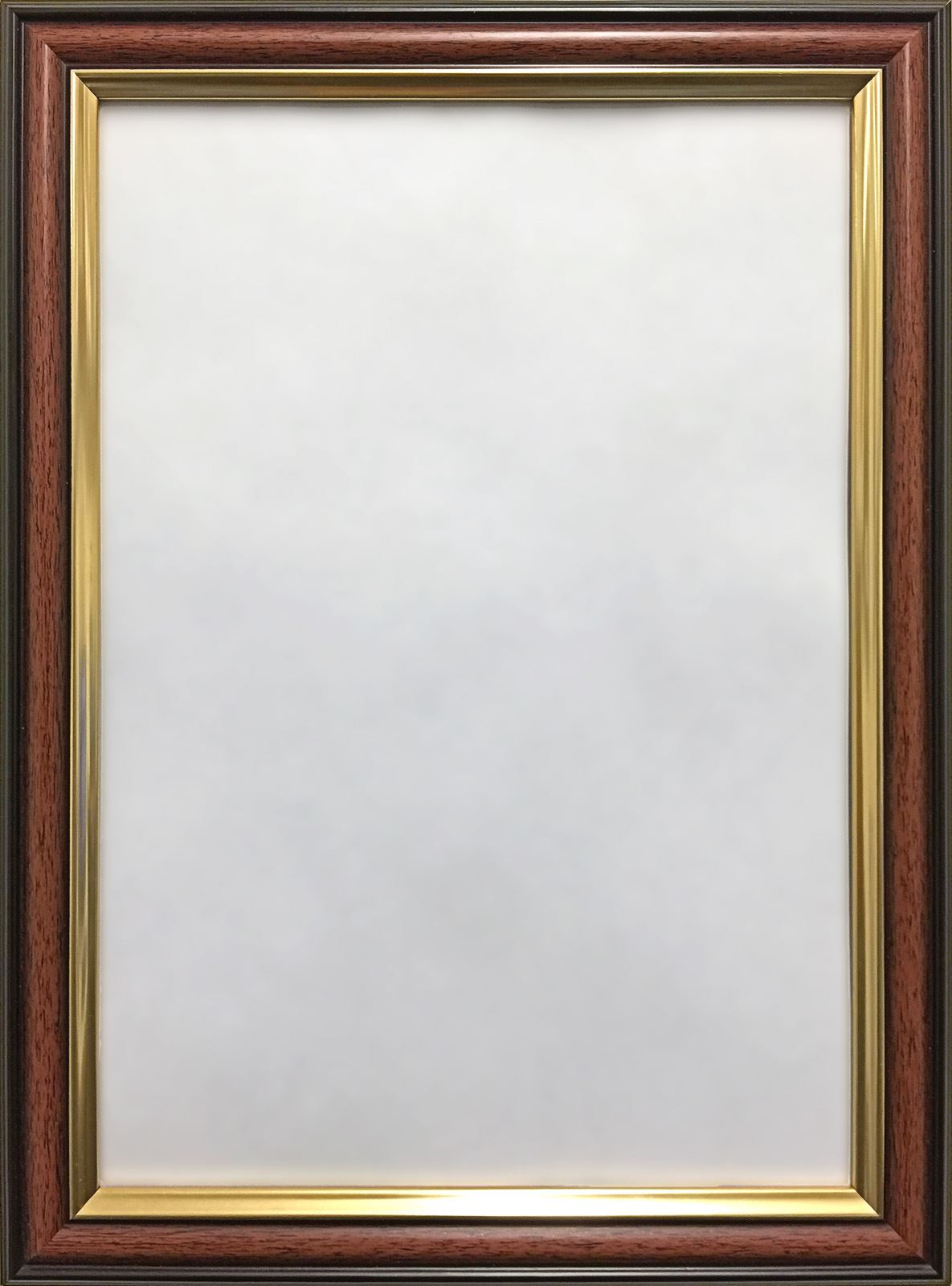 Mahogany Walnut with Gold Trim Photo Picture Frames Thin Moulding | eBay