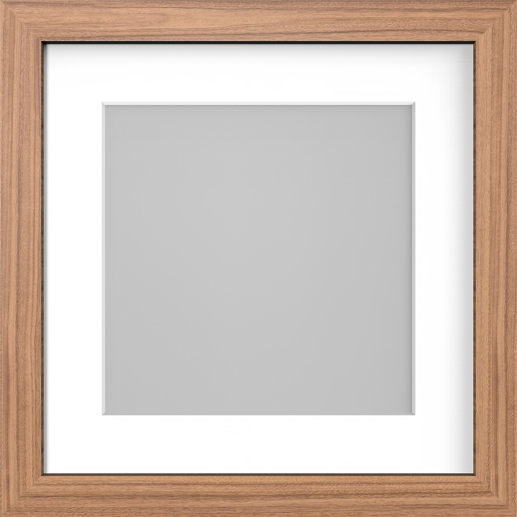 Square Photo Picture Frame with White Mounts Wood Effect Black White ...