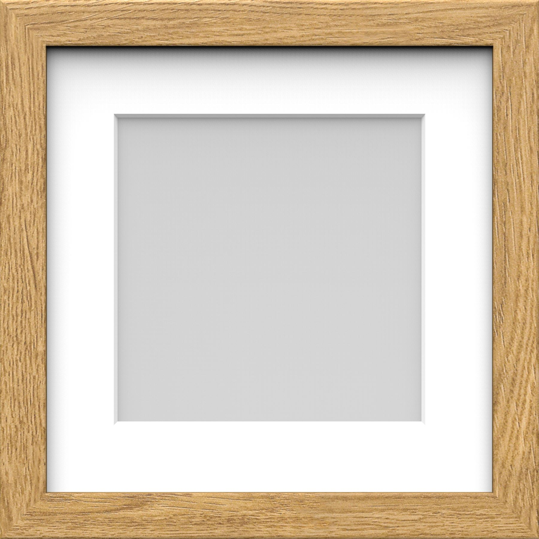Box Picture Photo Frame with Mount Wood effect Black White Oak ...