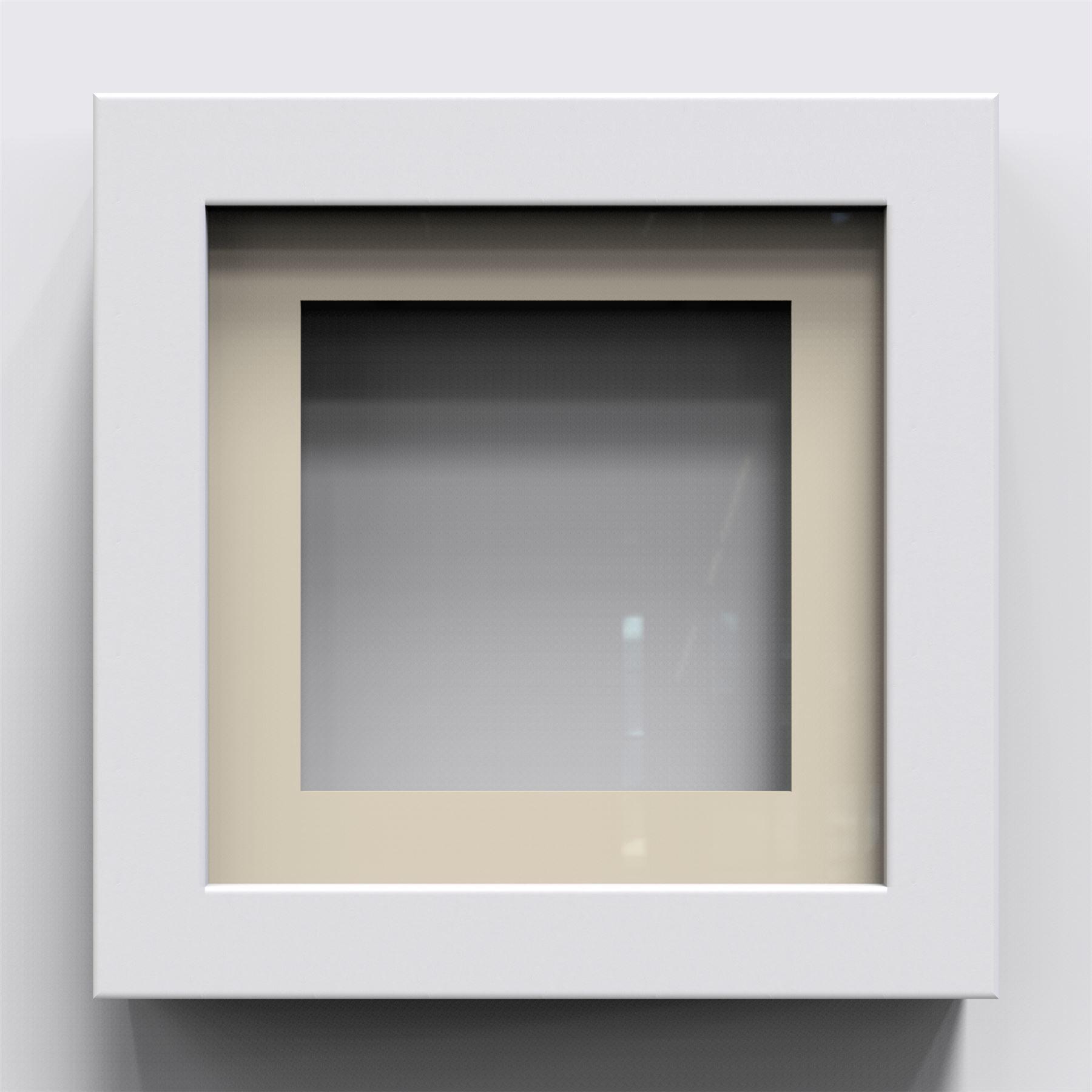 black white oak 3d 1 cube range deep box shadow frame. Black Bedroom Furniture Sets. Home Design Ideas
