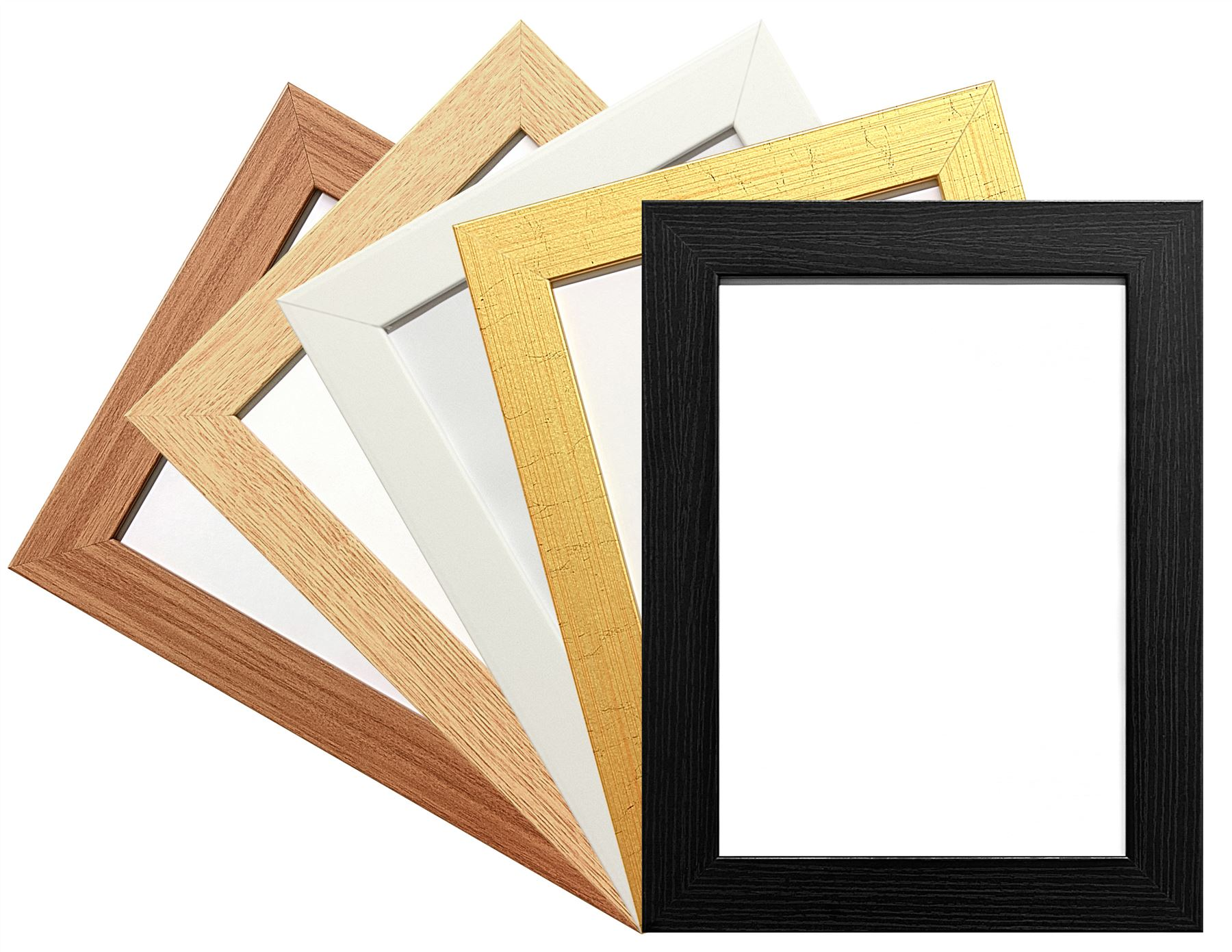 MODERN WIDE FLAT PHOTO PICTURE FRAME POSTER FRAMES LARGE 5 COLOUR ...