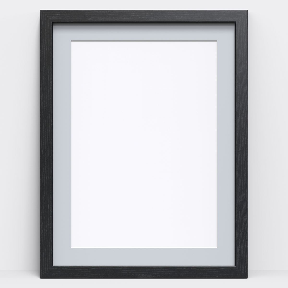 White Black Oak Photo Picture Frame Poster Frames with Grey Mount ...