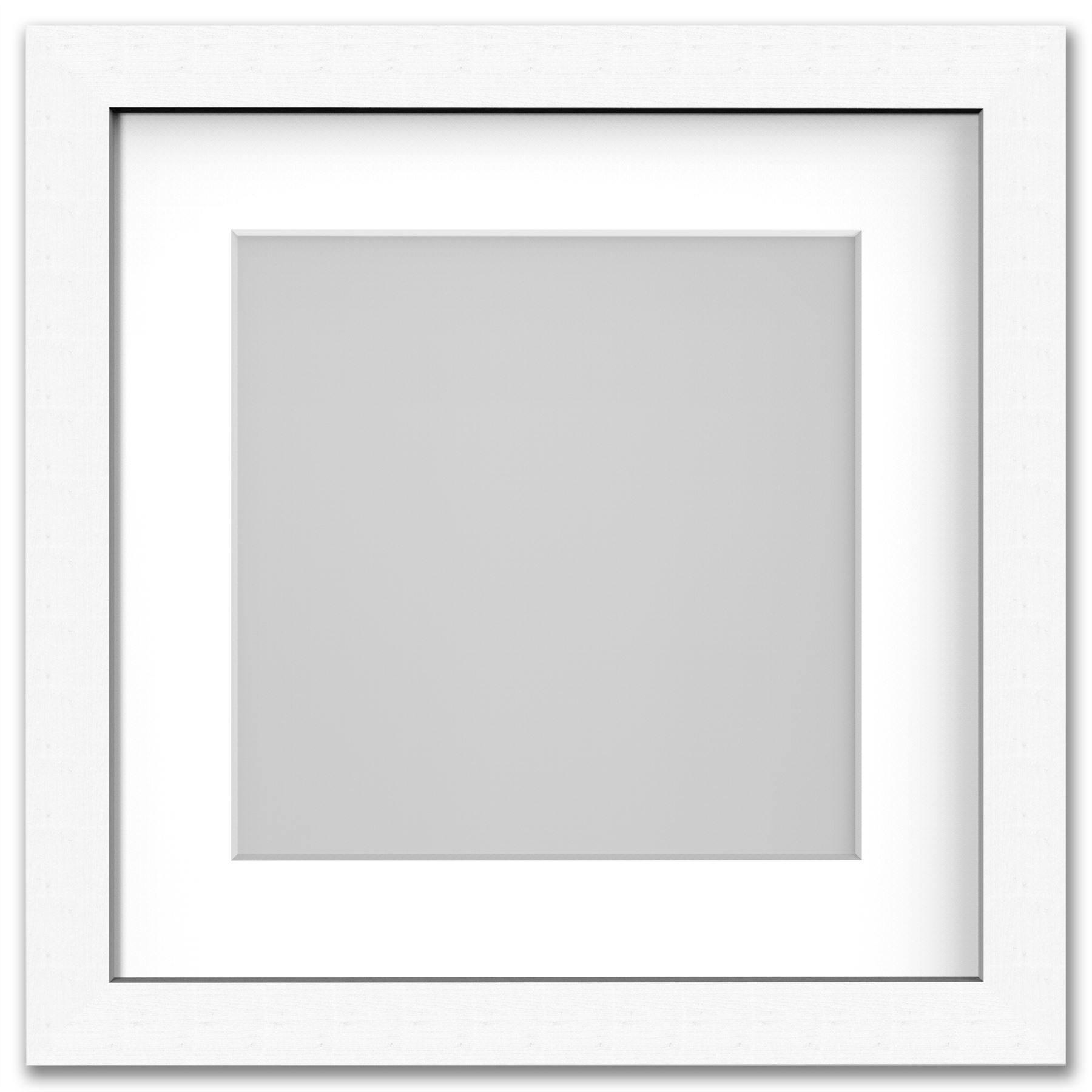 Square Photo Picture Frame With White Mounts Wood Effect