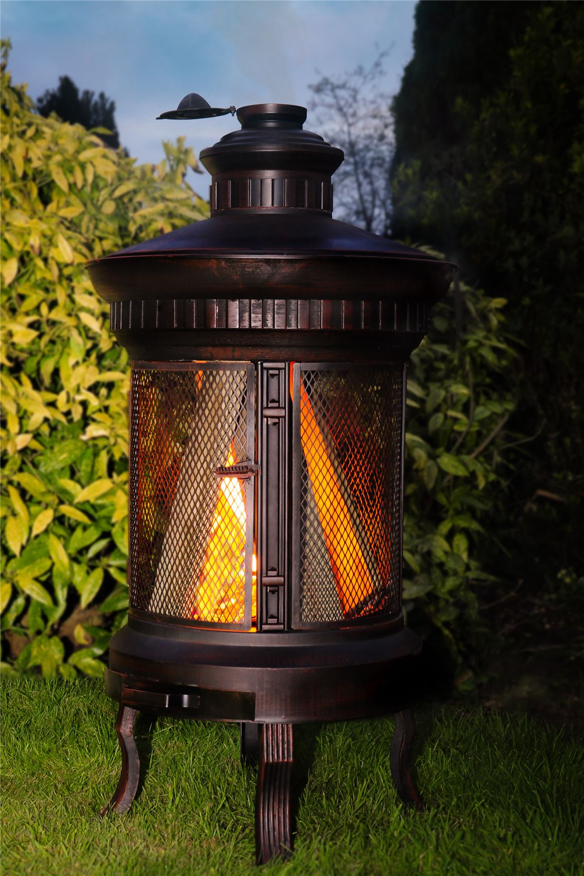 High Quality Image Is Loading Wrought Iron Garden Wood Burner Log Burner Chimenea