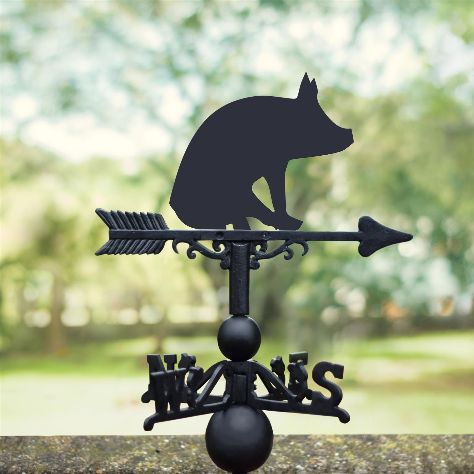 Montague Metal Products 32-Inch Weathervane with Color Pig Ornament