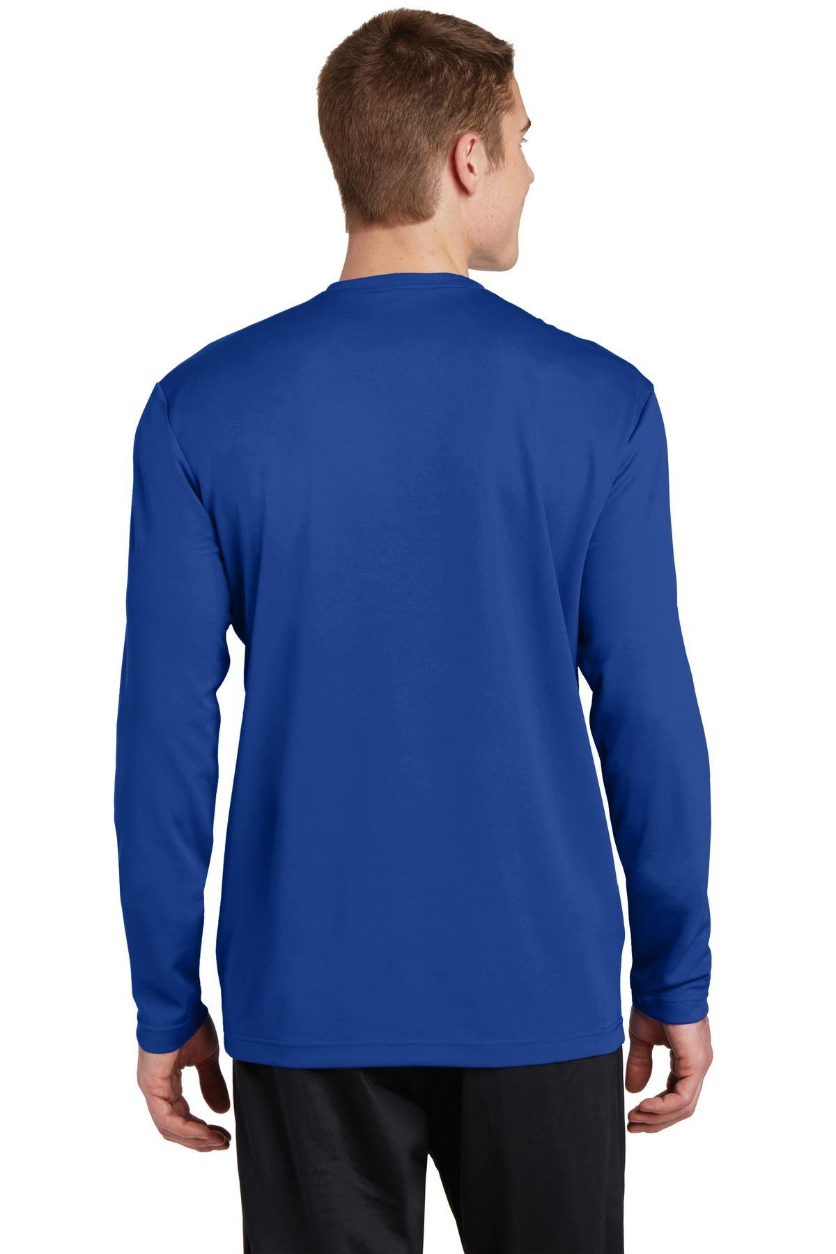 thumbnail 23 - Sport-Tek Men's Dry-Fit RacerMesh Moisture Wicking Long Sleeve T-Shirt ST340LS