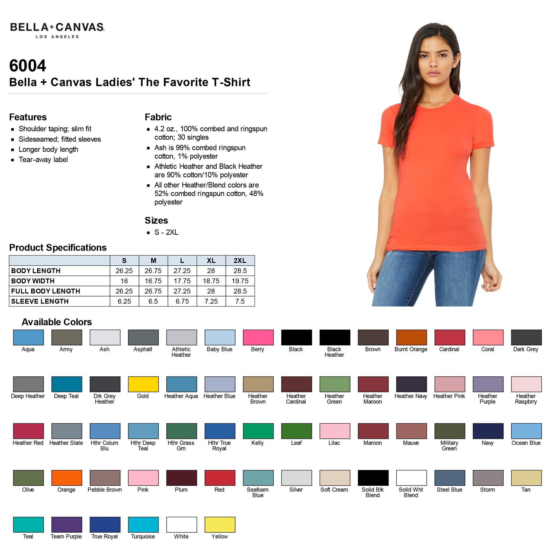 Ladies Plain Short Sleeve Tee Bella Canvas Womens Sheer Jersey T-Shirt 8101