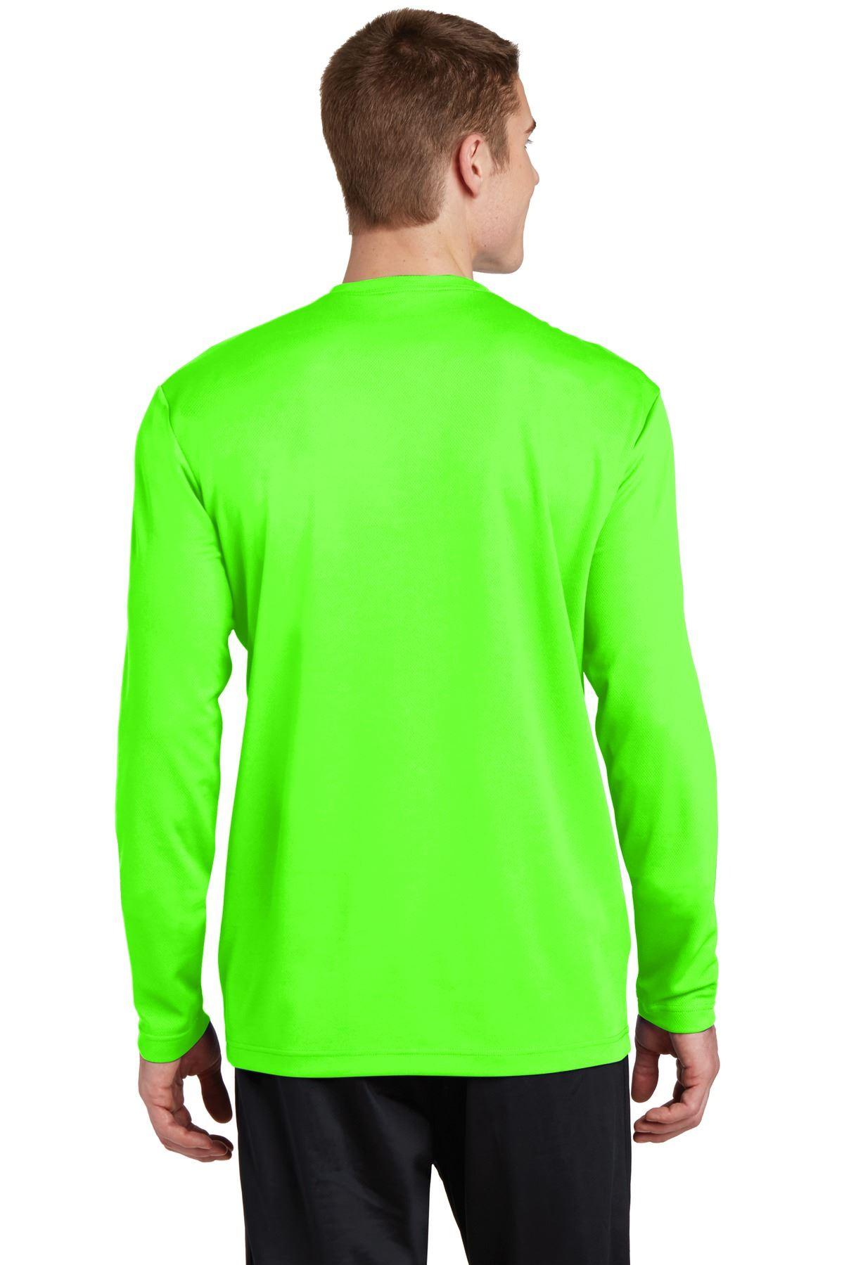 thumbnail 11 - Sport-Tek Men's Dry-Fit RacerMesh Moisture Wicking Long Sleeve T-Shirt ST340LS