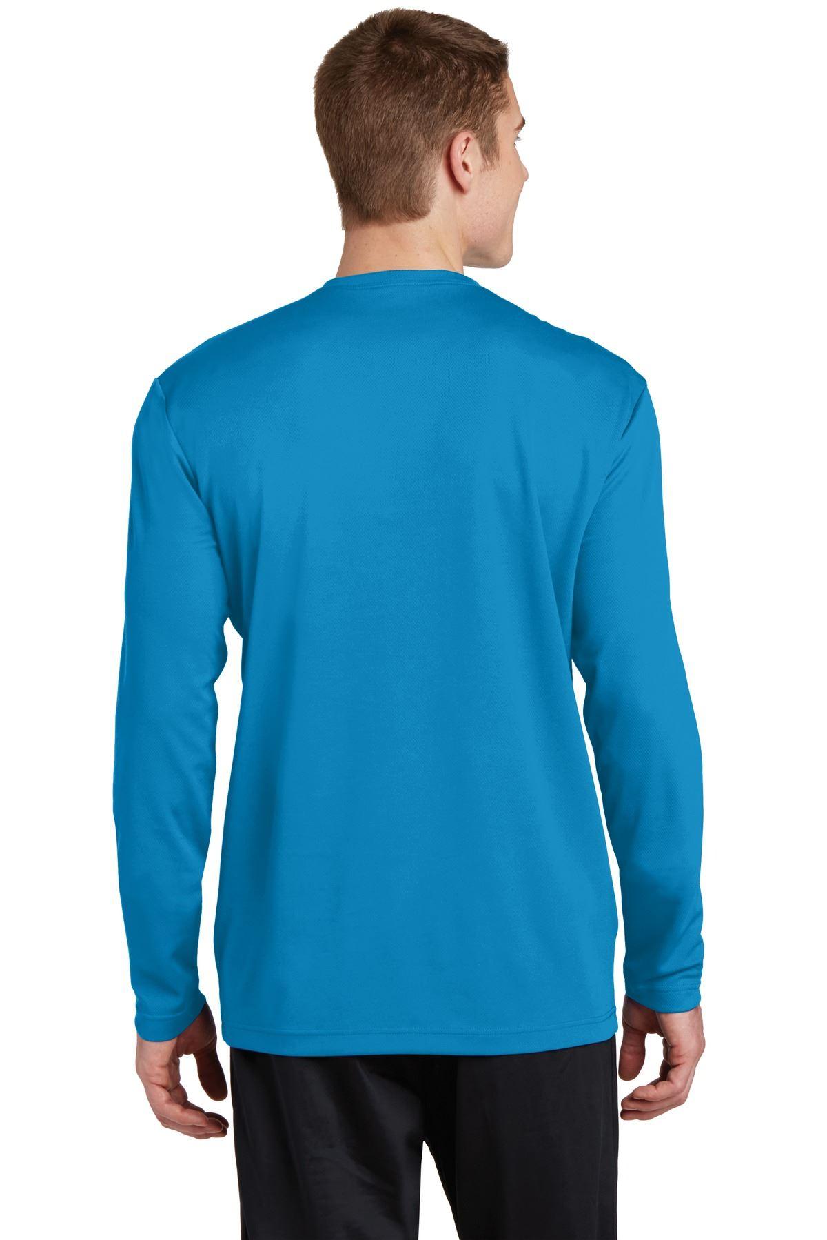 thumbnail 15 - Sport-Tek Men's Dry-Fit RacerMesh Moisture Wicking Long Sleeve T-Shirt ST340LS