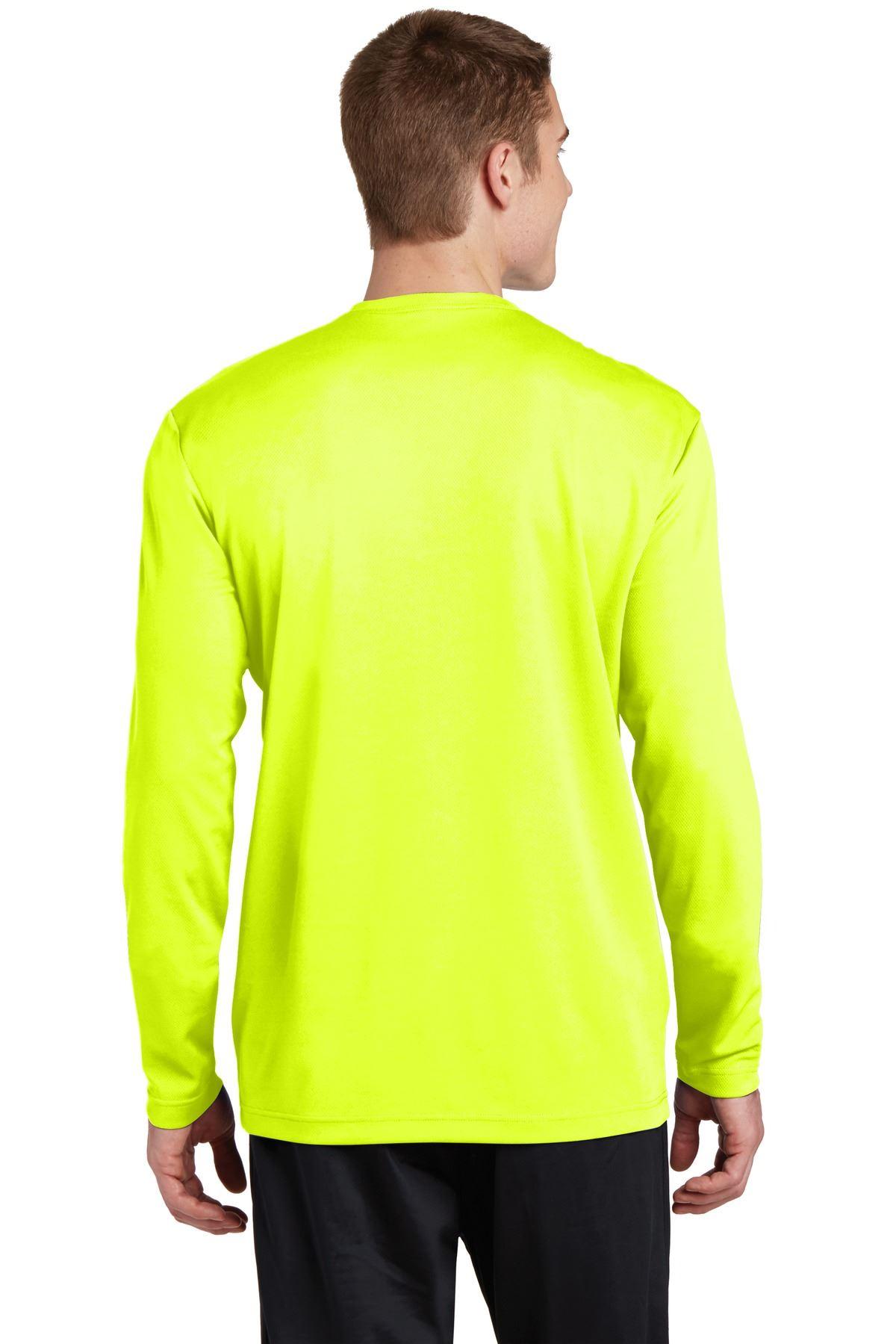 thumbnail 13 - Sport-Tek Men's Dry-Fit RacerMesh Moisture Wicking Long Sleeve T-Shirt ST340LS