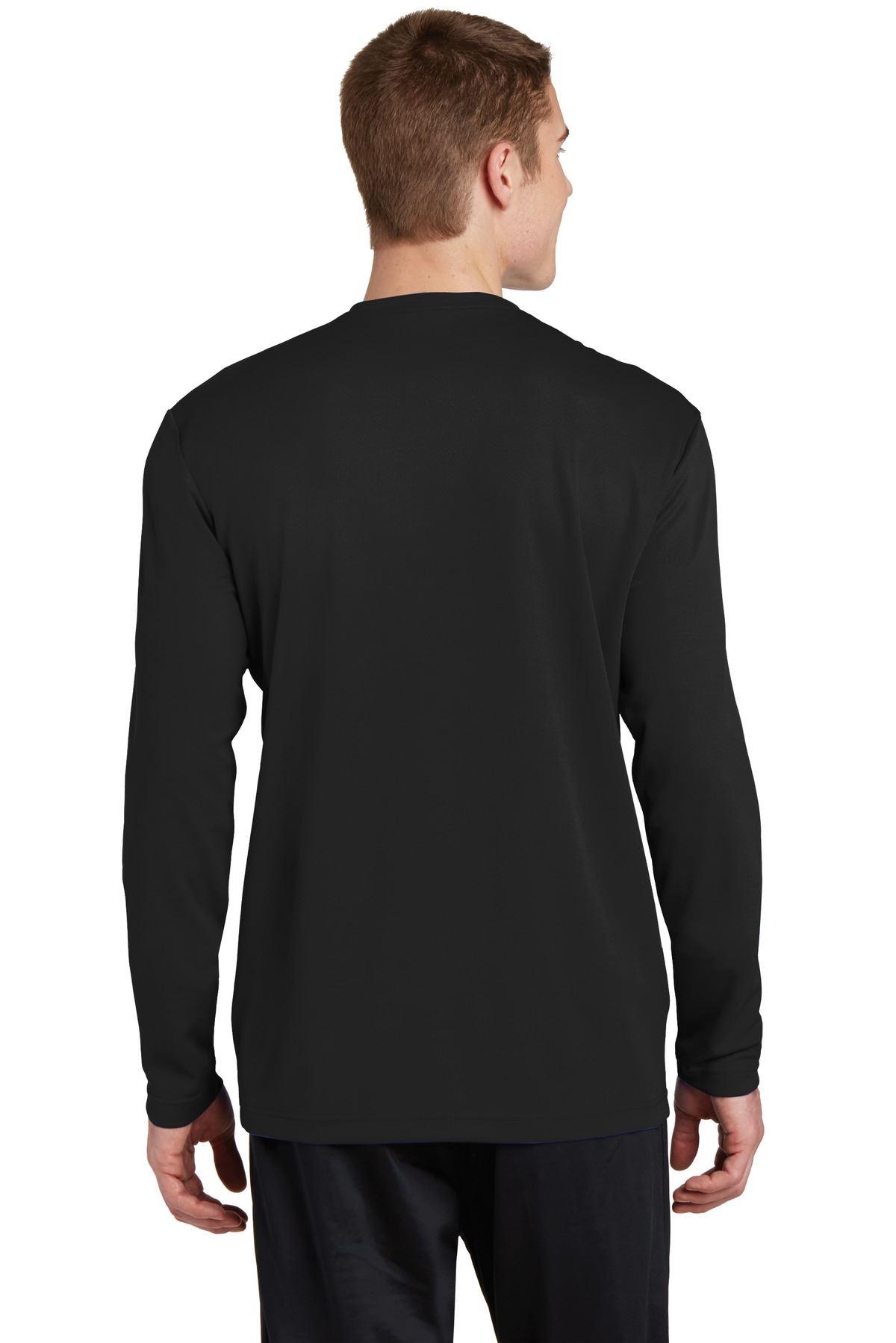 thumbnail 5 - Sport-Tek Men's Dry-Fit RacerMesh Moisture Wicking Long Sleeve T-Shirt ST340LS