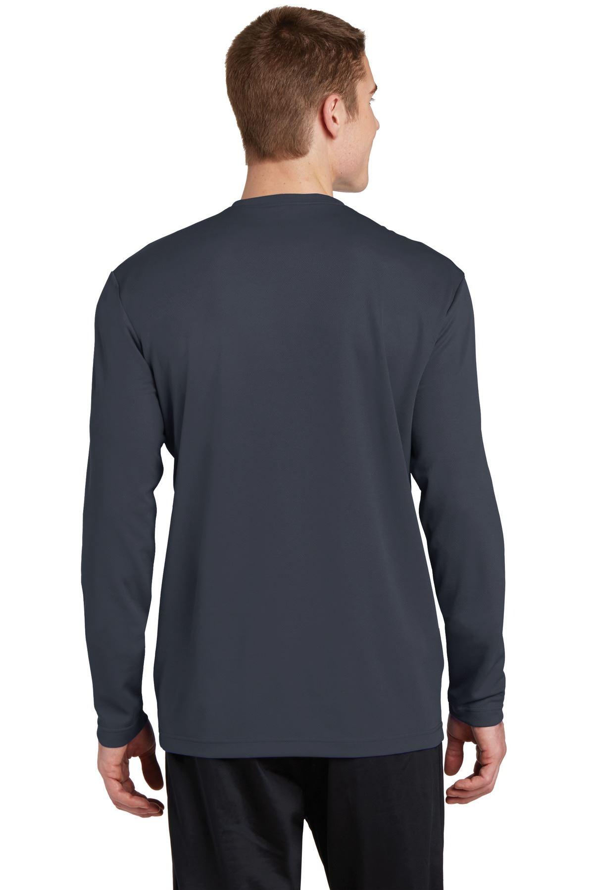 thumbnail 7 - Sport-Tek Men's Dry-Fit RacerMesh Moisture Wicking Long Sleeve T-Shirt ST340LS