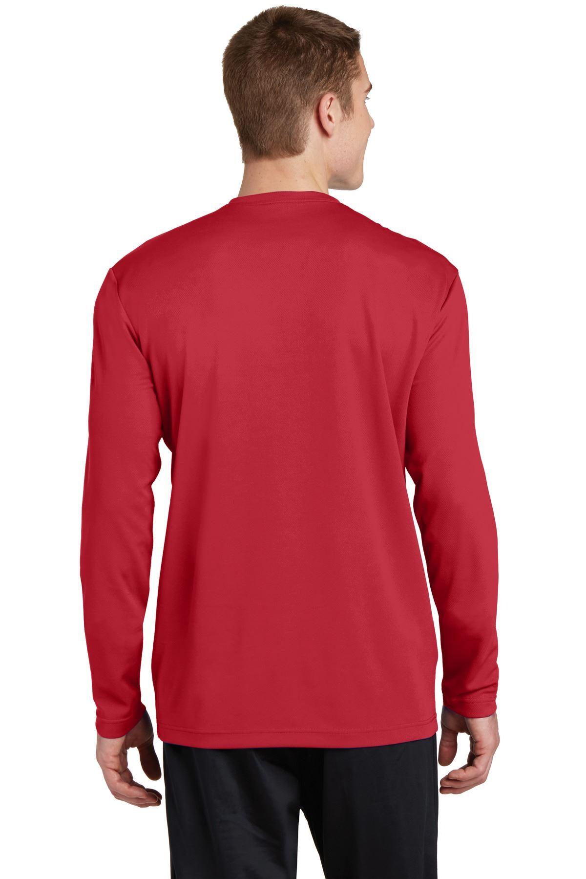thumbnail 21 - Sport-Tek Men's Dry-Fit RacerMesh Moisture Wicking Long Sleeve T-Shirt ST340LS