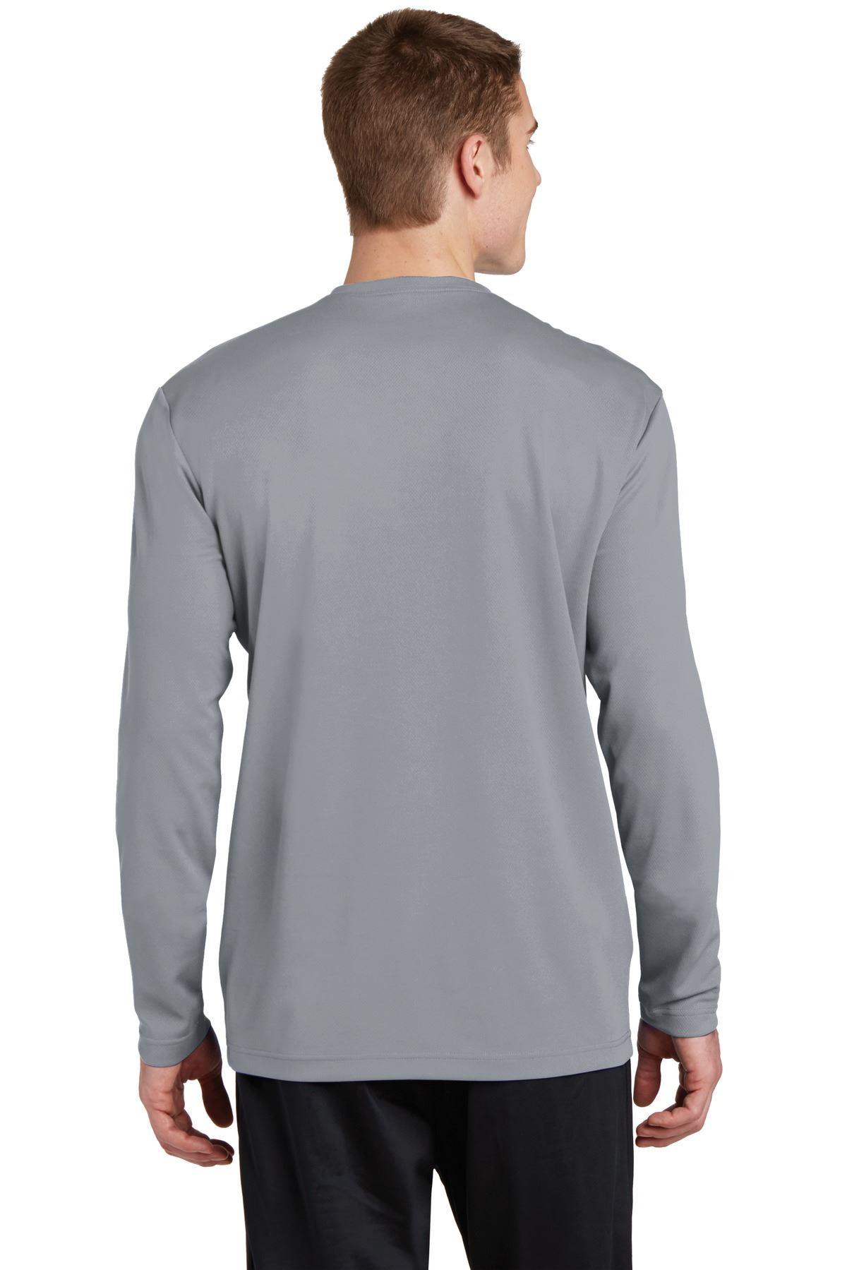 thumbnail 17 - Sport-Tek Men's Dry-Fit RacerMesh Moisture Wicking Long Sleeve T-Shirt ST340LS