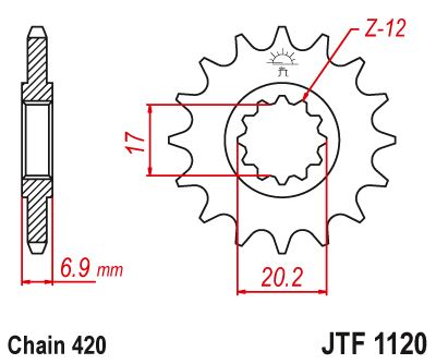 JT Front Sprocket JTF1120 13 Teeth fits Rieju 50 RS2 Matrix 03