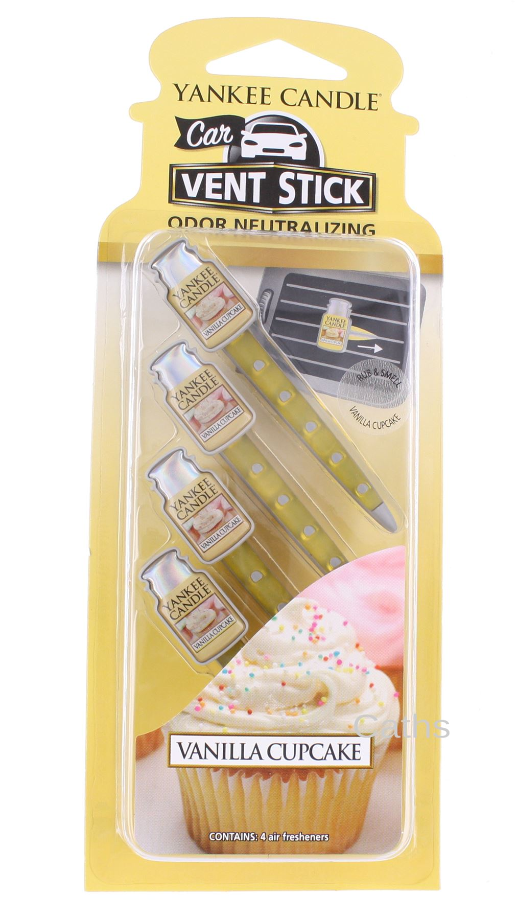 Yankee-Candle-Car-Vent-Sticks-Air-Freshener-Fragrances-Pack-of-Four