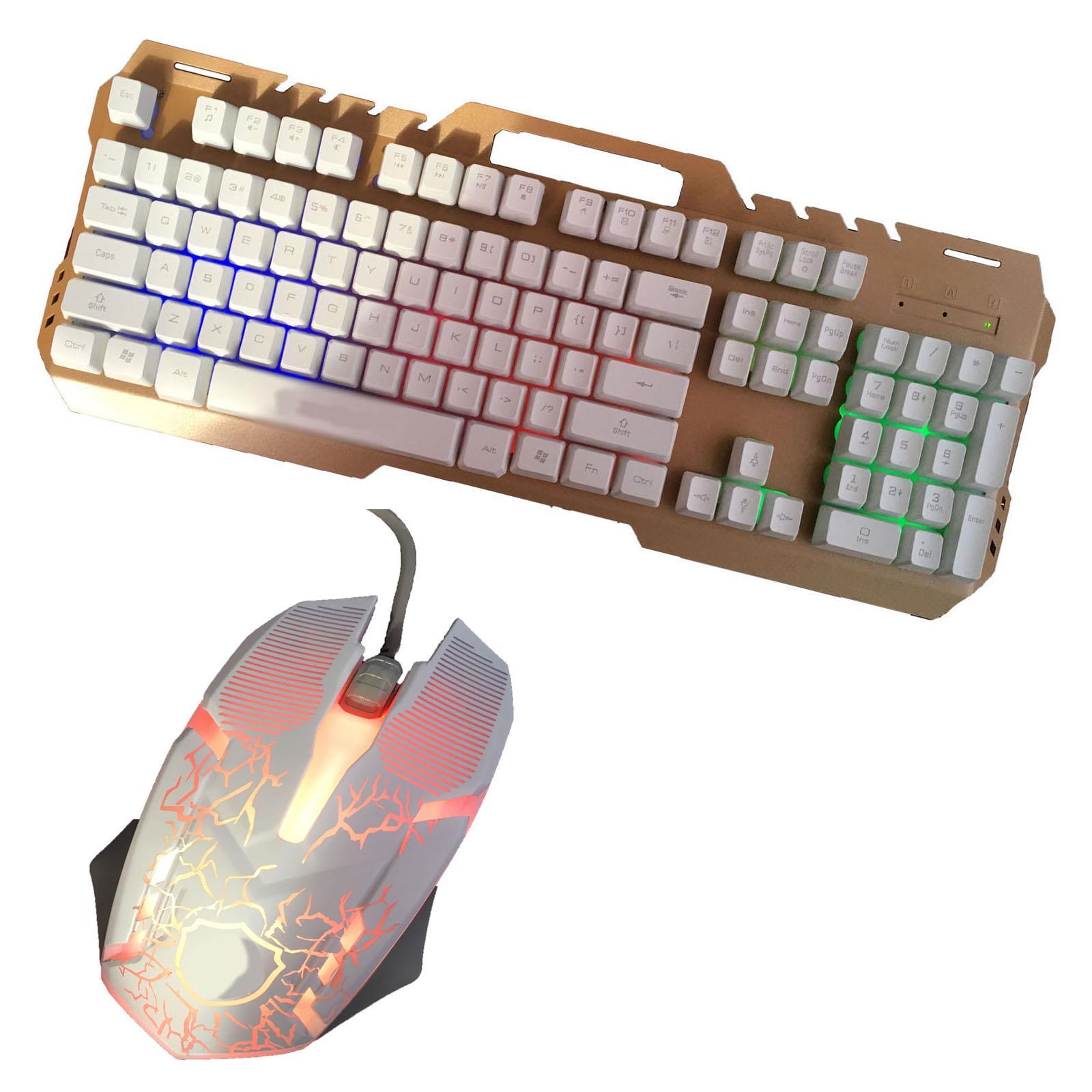 Gaming-Keyboard-Mouse-Backlit-Rainbow-LED-USB-Set-for-PC-Laptop-PS4-Xbox-One thumbnail 53