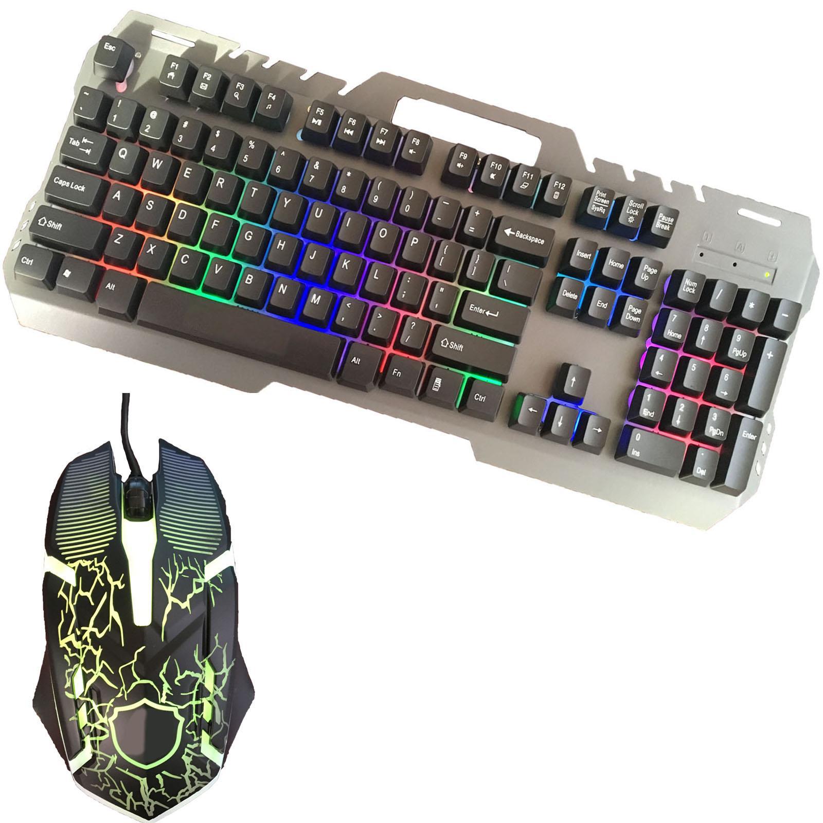 Gaming-Keyboard-Mouse-Backlit-Rainbow-LED-USB-Set-for-PC-Laptop-PS4-Xbox-One thumbnail 39