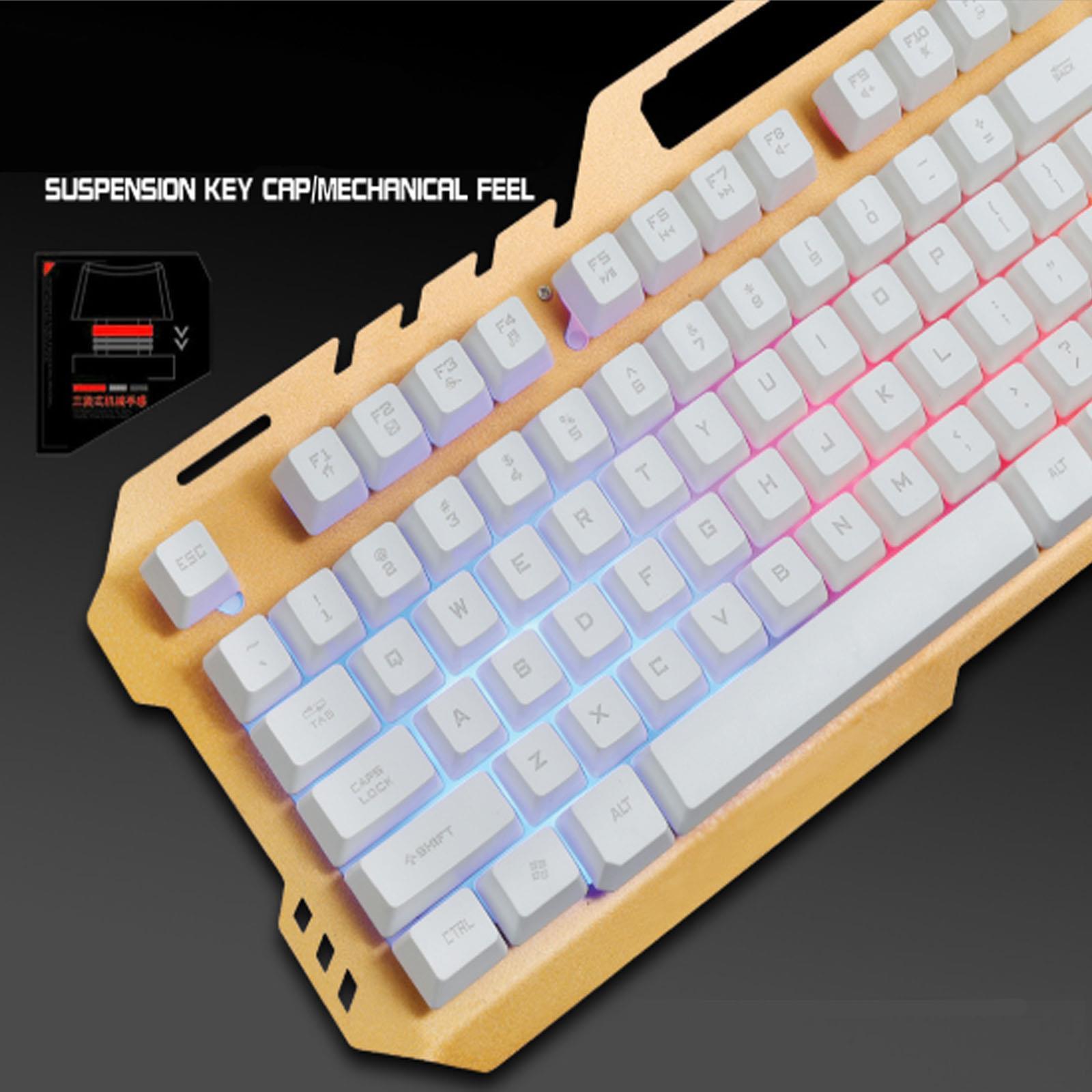 Gaming-Keyboard-Mouse-Backlit-Rainbow-LED-USB-Set-for-PC-Laptop-PS4-Xbox-One thumbnail 44