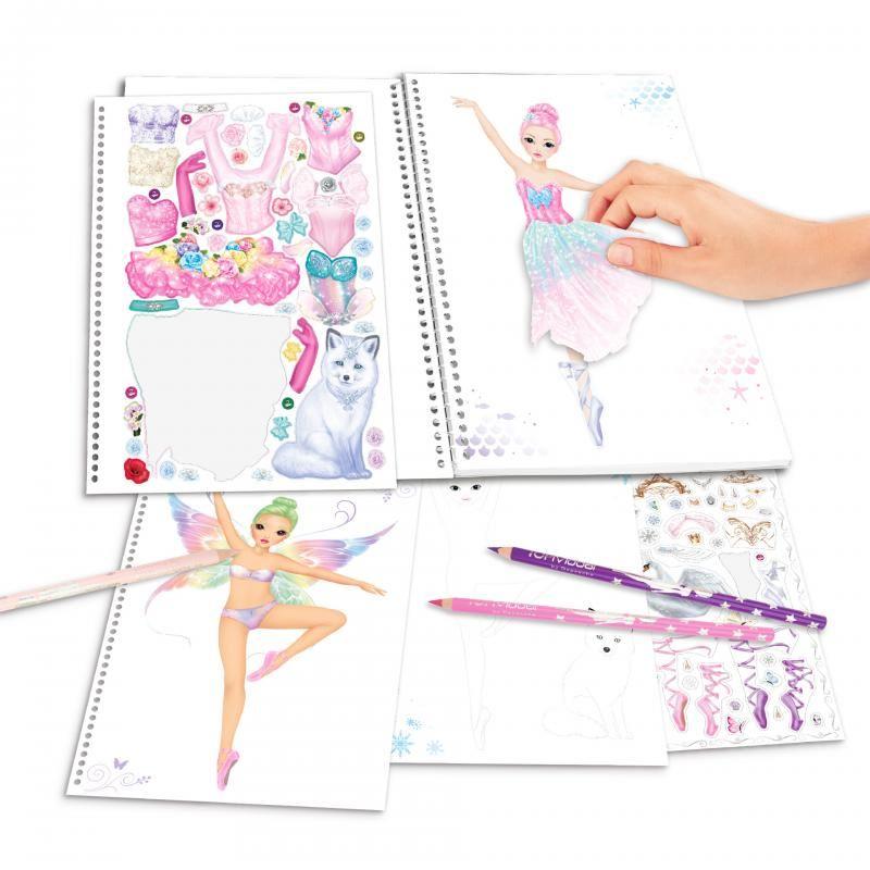 Top Model Stationery Design Livres Livre De Coloriage Crayons Et Plus Free P P Ebay