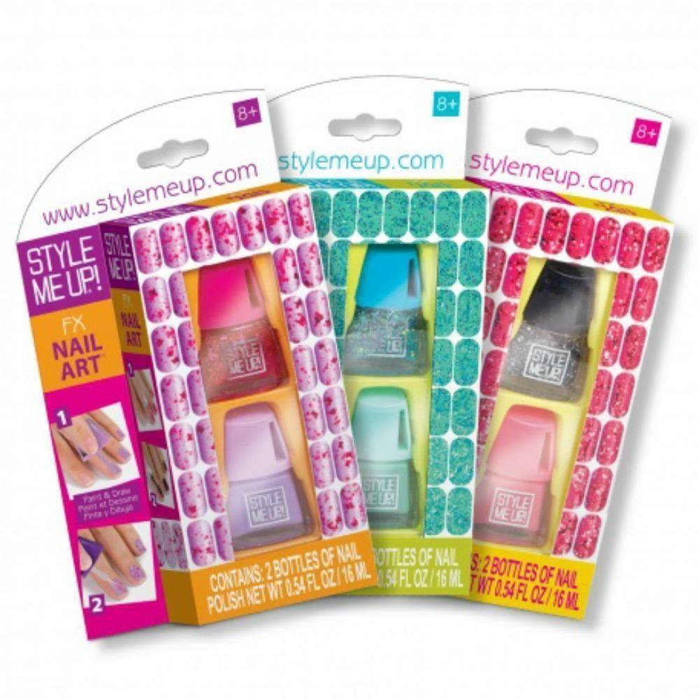 Nail Art Kits - Kids Nail Kits Various Colours - Girls Craft FREE ...